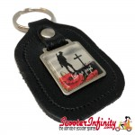 "Key ring chain - Poppy Soldier Remembrance Day ""Lest We Forget"" (Black)"