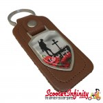 "Key ring chain - Poppy Soldier Remembrance Day ""Lest We Forget"" (Brown)"