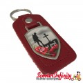 """Key ring chain - Poppy Soldier Remembrance Day """"Lest We Forget"""" (Red)"""