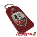 "Key ring chain - Poppy Soldier Remembrance Day ""Lest We Forget"" (Red)"