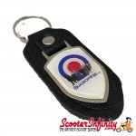 Key ring chain - Quadrophenia Mods Mod Target (Black)