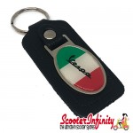 Key ring chain - Vespa Italian Flag (Black)