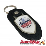 Key ring chain - Vespa GTS Service (Black, Shield)