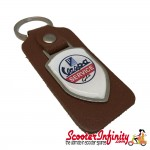 Key ring chain - Vespa GTS Service (Brown, Shield)