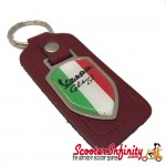 Key ring chain - Vespa GTS 250 Italian Flag (Red, Shield)