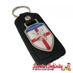 Key ring chain - Lambretta (England Emblem, Black)
