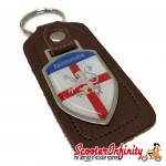 Key ring chain - Lambretta (England Emblem, Brown)