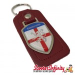 Key ring chain - Lambretta (England Emblem, Red)