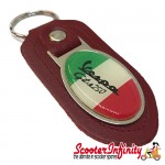 Key ring chain - Vespa GTS 250 Italian Flag (Red)