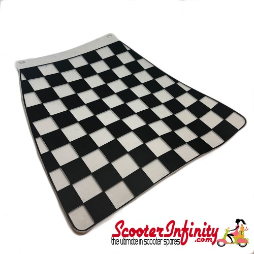 Mudflap Black White Chequered / Check (Universal Fitment)