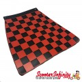Mudflap Red Black Chequered / Check (Universal Fitment)