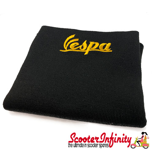 Neck Scarf Scarves Neck Warmer Face Mask VESPA (Black, Gold Yellow Logo)