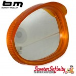 Mirror Head RIGHT Hand (Scooter) (for 7mm Stem) (BUMM) (Orange / White) (Vespa / Lambretta)