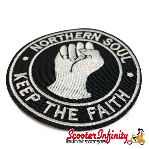"Patch Clothing Sew On - Northern Soul ""Keep the Faith"" (80mm, 80mm)"