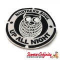 "Patch Clothing Sew On - Northern Soul Owl ""Up All Night"" (80mm, 80mm)"