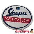 Patch Clothing Sew On - Vespa Servizio (No. 3) (80mm, 80mm)
