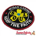 "Patch Clothing Sew On - Northern Soul ""Wigan Casino - Keep The Faith"" (80mm, 80mm)"