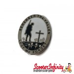 Pin Badge - Remembrance Day (Lest We Forget) (Silver)