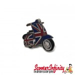 Pin Badge - Scooter Union Jack (Vespa / Lambretta)