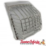 Rear Light Grill Plastic Chrome (Vespa PX)