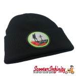 Beanie Hat Remembrance Day (Black, RD Emblem)