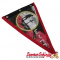 Flag Penant Lest We Forget Poppy, Remembrance Day (Red Trim) (300x180mm) (With Eye Holes, for Whip Aerial)