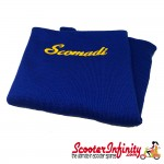 Neck Scarf Scarves Neck Warmer Face Mask SCOMADI (Blue, Gold Yellow Logo)