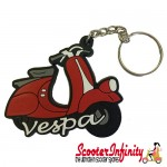 Key ring chain - Vespa Scooter Red