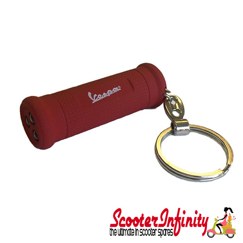 Key ring chain - Vespa Grip (Red, with LED Torch)