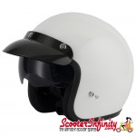 Helmet / MOD Vcan V537 Open Face - (Gloss White - With Popdown Sunvisor)