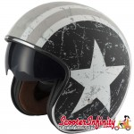 Helmet / MOD Vcan V537 Open Face - (Rebel Star - With Popdown Sunvisor)