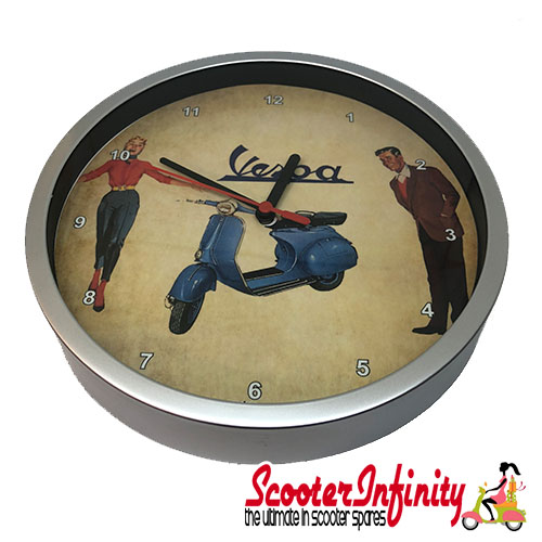 Wall Clock - Vespa Happy (220mm Wide)