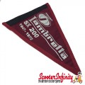 Flag Penant Lambretta SX 200 (Maroon Red, Black Trim) (260x190mm) (With Eye Holes, for Whip Aerial)