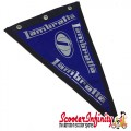 Flag Penant Lambretta Innocenti (Blue, Blue Trim) (240x170mm) (With Eye Holes, for Whip Aerial)