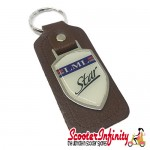 Key ring chain - LML Star (Shield, Brown)