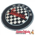 Patch Clothing Sew On - Modern Vespa Check (75mm, 75mm)