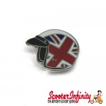 Pin Badge - Helmet Union Jack