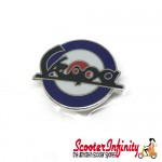Pin Badge - Mod Target with Large Vespa Emblem