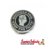 Pin Badge - Northern Soul Keep the Faith Fist (Black)
