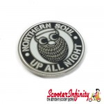 Pin Badge - Northern Soul Owl