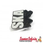 Pin Badge - Ska Emblem with Ska Skank Man