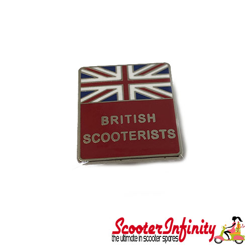 Pin Badge - British Scooterists Union Jack (Red)