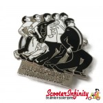 Pin Badge - Madness 40th Anniversary (Black / White)