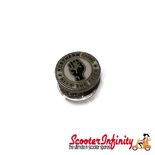 Pin Badge - Northern Soul - Keep the Faith (Small Tiny) (Silver Edge)
