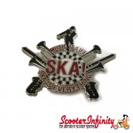 "Pin Badge - SKA ""Music is Life, Ska is Everything"""
