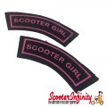Patch Clothing Sew On - Scooter Girl (110mm, 35mm)
